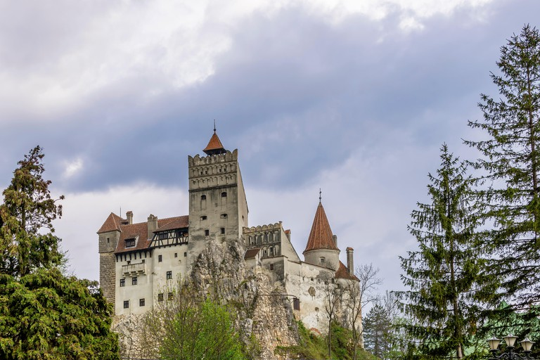 A view of the scary Bran Castle, Brasov County, Romania