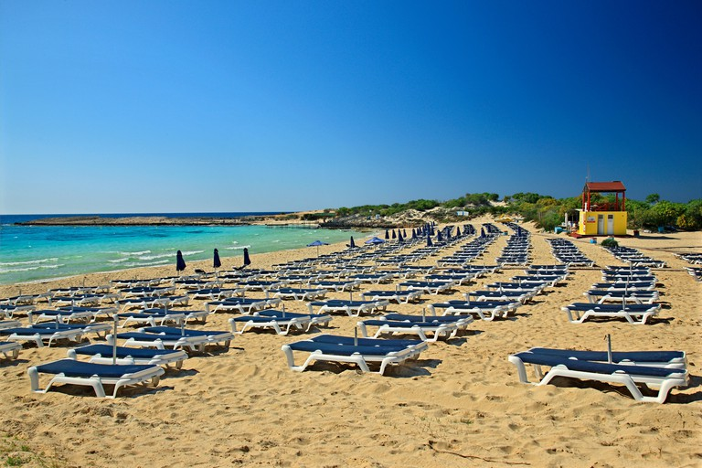 Makronissos beach, close to Agia Napa, district of Ammochostos (Famagusta), Cyprus.