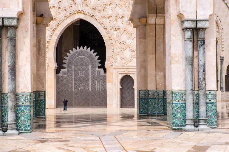 The Hassan II Mosque or Grande Mosquee Hassan II. Casablanca, Morocco