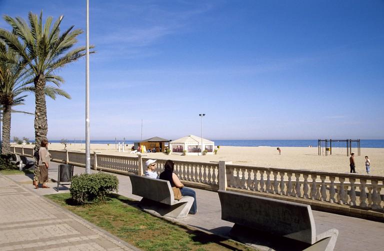 El Masnou; playa d´Ocata.