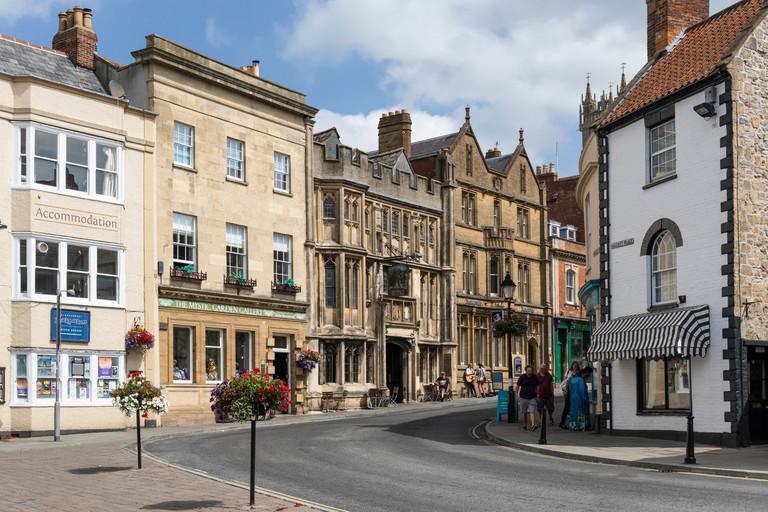 The George & Pilgrims Hotel, High Street, Glastonbury, Somerset, England, UK