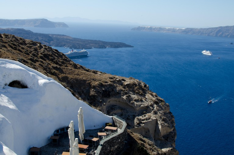 View From Venetsanos Winery - Santorini