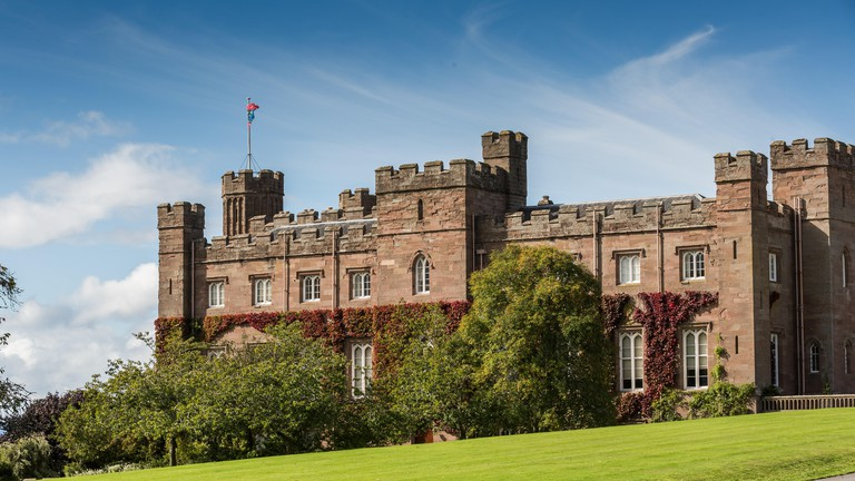 Scone Palace near the city of Perth in Scotland, UK