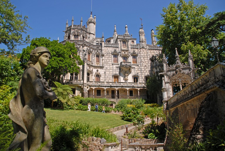 A view of the Palacio e Quinta da Regaleira in Sintra, Portugal.. Image shot 07/2009. Exact date unknown.
