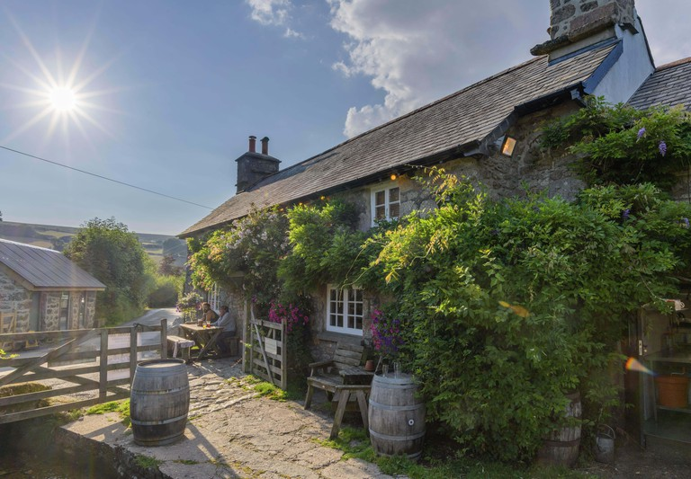 The Rugglestone Inn, Dartmoor NP, Widecombe-in-the-Moor, England, Great Britain