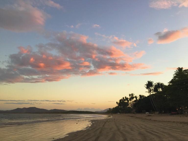 Sunrise on Tamarindo beach, Costa Rica