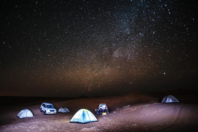 Stars above Wahiba Sands, Al Sharqiya, Oman