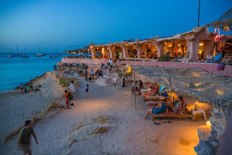 Bar-Restaurant Sunset Ashram. Sant Josep de Sa Talaia. Ibiza Island. Balearic. Islands. Spain