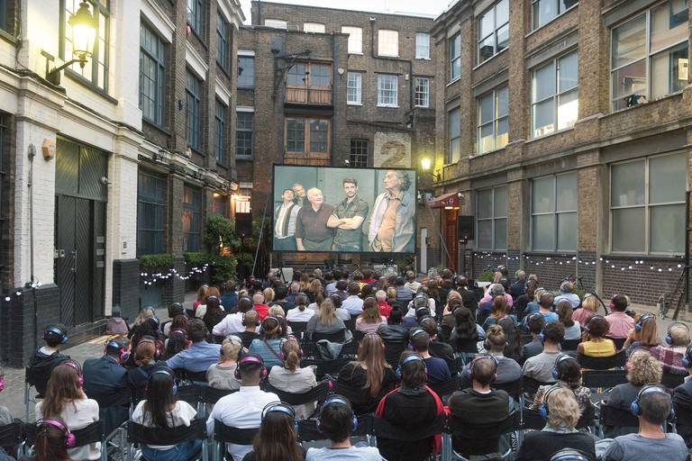 Outdoor Cinema by Nomad at Bleeding Heart Yard