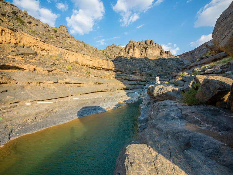 Oman, Al Dhahirah Region, Al Hajar Mountains, Wadi Damm