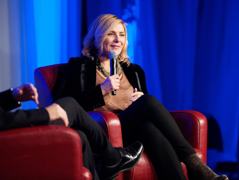 Canada. 6th Dec, 2014. English-Canadian actress Kim Cattrall speaks at the Whistler Film Festival in Whistler BC, Canada. The festival is holding a Tribute to Kim Catrall event as part of the annual film festival. Saturday, Dec 6, 2014. Credit: David Buzzard/Alamy Live News