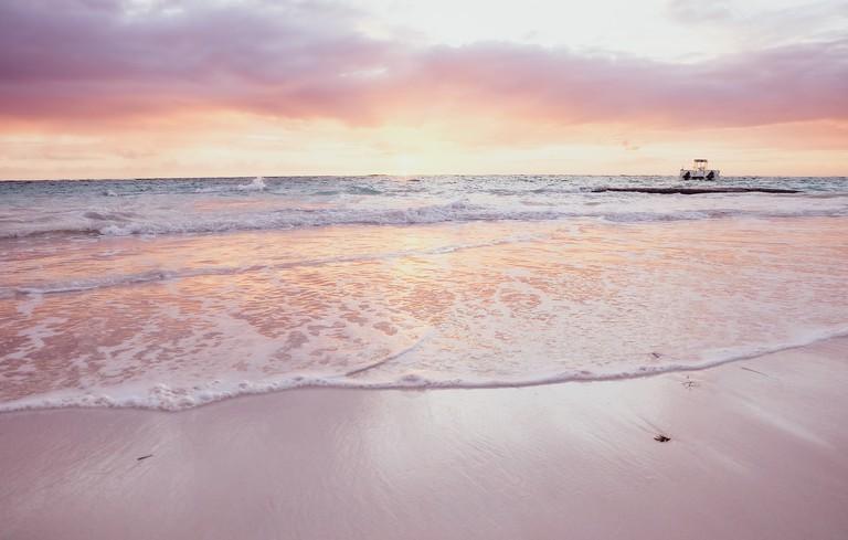 White sand of Dominican Republic
