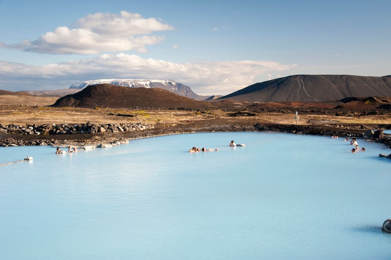 Jaroboeoin thermal bath, Myvatn Nature Baths, the Blue Lagoon of the North, Norourland eystra region, or north-east region