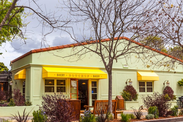 Bouchon bakery and Bistro in the Napa Velley town of Yountville California a Thomas Keller property