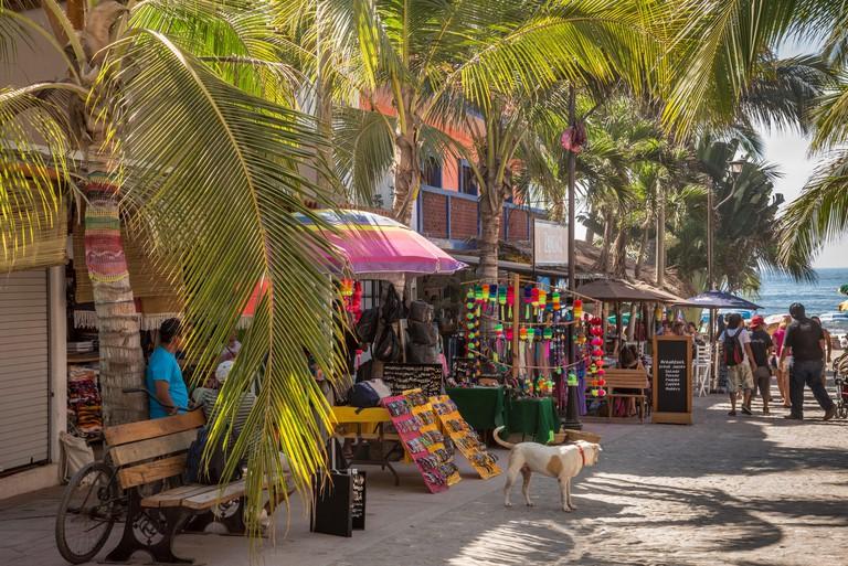 Street scene, Sayulita, Riviera Nayarit, Mexico.