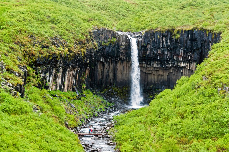 Svartifoss Waterfall in Skaftafell, Iceland
