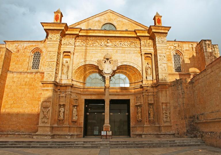 Portal of the Cathedral of Santa Maria la Menor, Zona Colonial, Santo Domingo, Dominican Republic