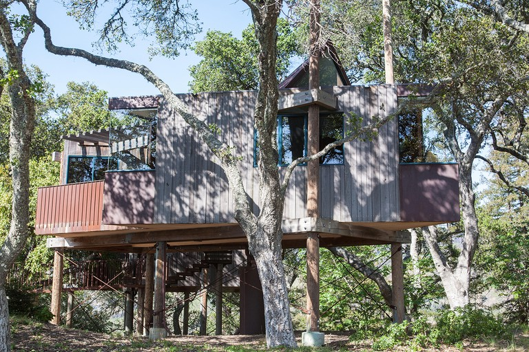 Eco lodges at Post Ranch Hotel,Big Sur next to National Highway 1,PCH, California,U.S.A.,United States of America,