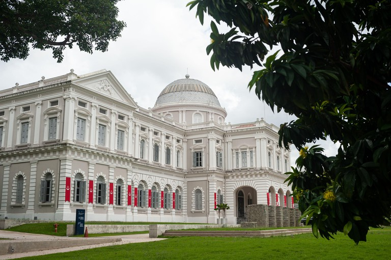 25.07.2020, Singapore, Republic of Singapore, Asia - Exterior view with the eastern wing of the National Museum of Singapore at Stamford Road.