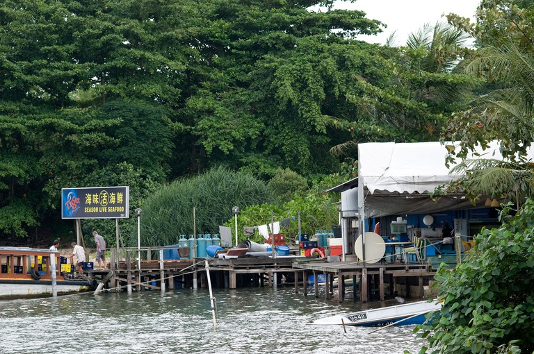 docks scene, pulau ubin, singapore