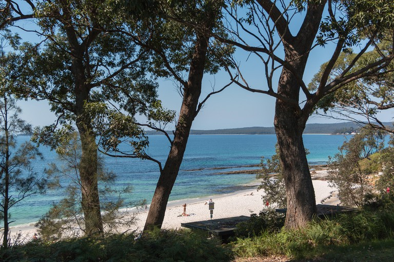 The white sand at Hyams Beach in Jervis Bay, Australia