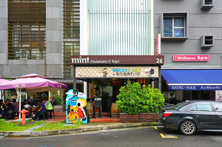 View of the Mint Museum of Toys, exhibiting vintage toys, located in Singapore.