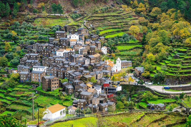 Charming, mountainous village called Piodao in Serra da Estrela, Portugal
