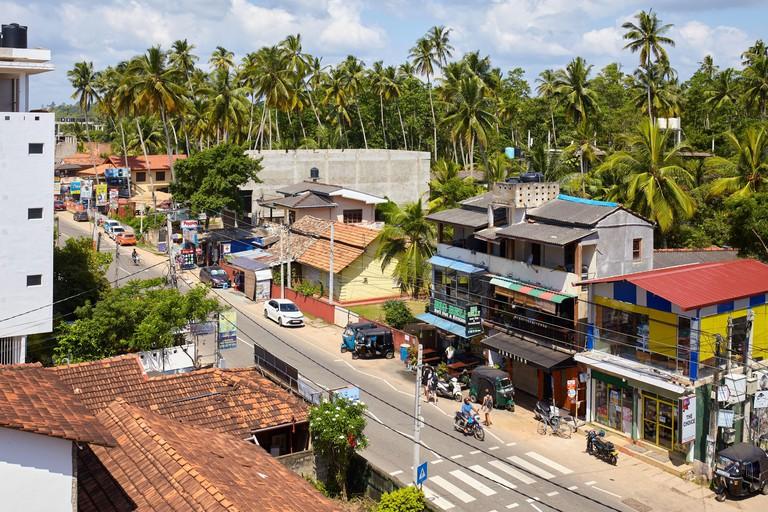 The Main street of Mirissa, one of Sri Lanka top beach destinations.