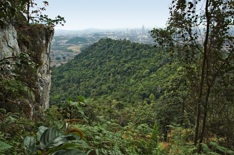View of Kuala Lumpur from Bukit Tabur quartz ridge