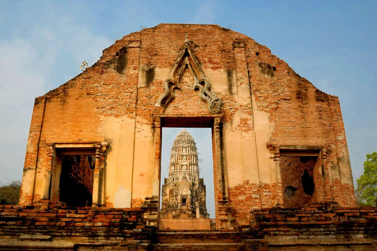 400 year old Wat Ratchaburana (Temple) Ayutthaya Thailand on 10/02/2012