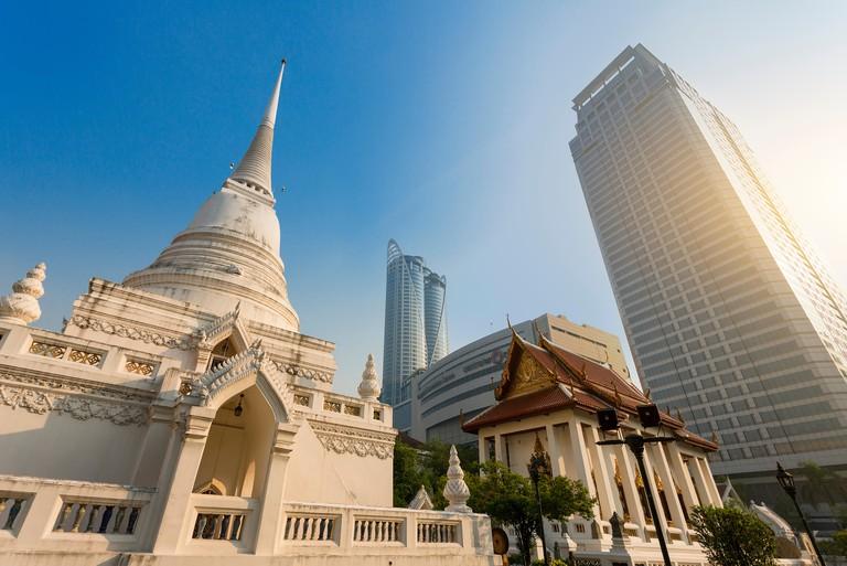 Thailand, Bangkok, Wat Pathum Wanaram. Image shot 02/2019. Exact date unknown.