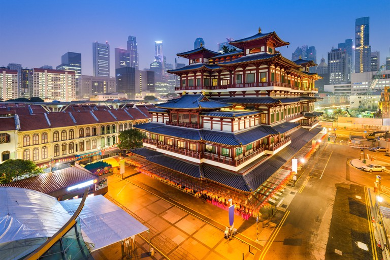 Singapore at the Buddha Tooth Relic Temple.