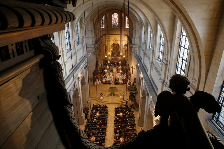 Mass in St Louis's cathedral, Versailles.