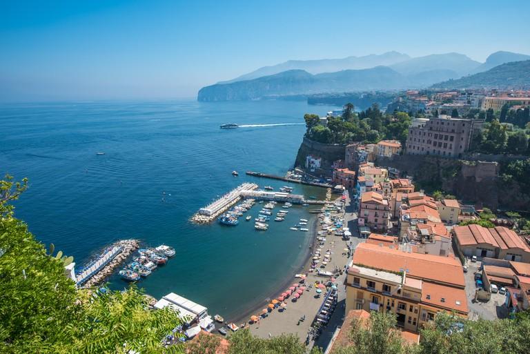 Panoramic view of Sorrento, the Amalfi Coast, Italy.