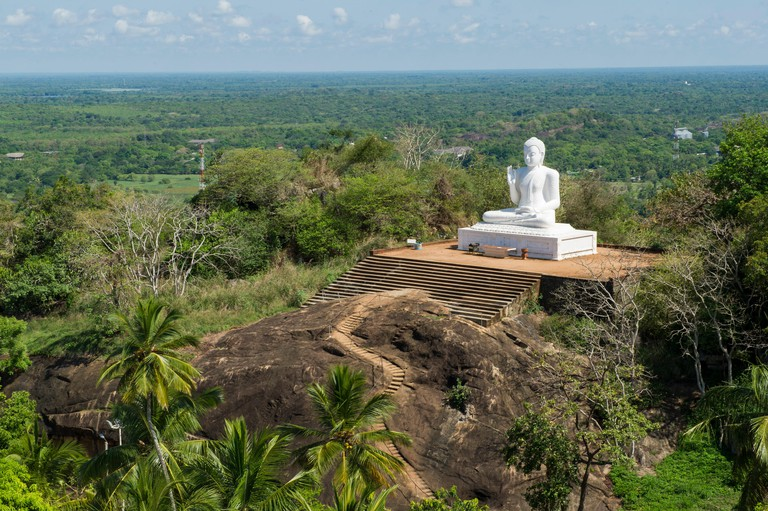 The great seated Buddha at Mihintale, Anuradhapura, Sri Lanka