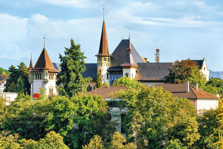 Historical Museum in Bern, Switzerland. Seen from Bundesterrasse