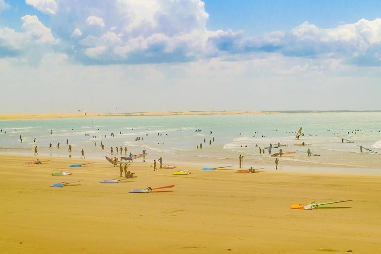 Windsurf at Jericoacoara Beach Brazil. Image shot 10/2016. Exact date unknown.
