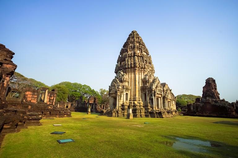 Prasat Hin Phimai, Phimai historical park in Nakhon Ratchasima province, Thailand.