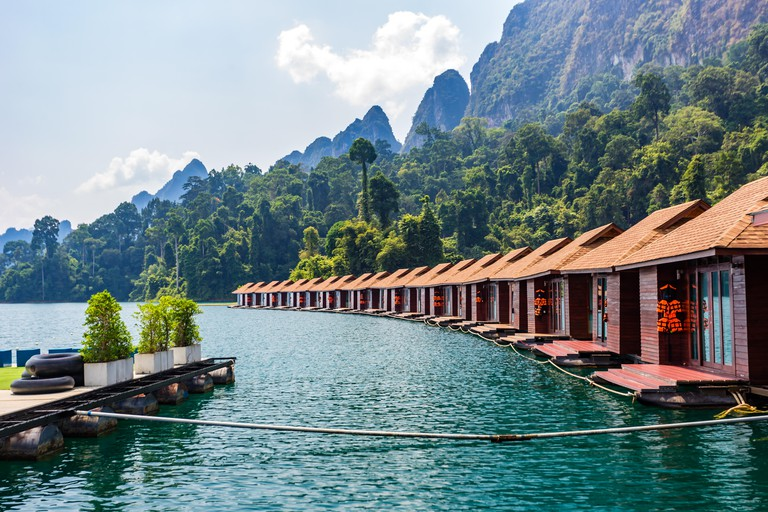 Floating Bungalows at Khao Sok National Park, Cheow Lan Lake, Surat Thani, Thailand