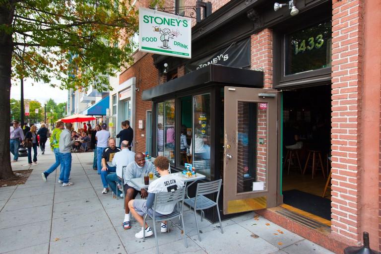 Stoney's Restaurant in Logan Circle in Washington DC. Image shot 2009. Exact date unknown.