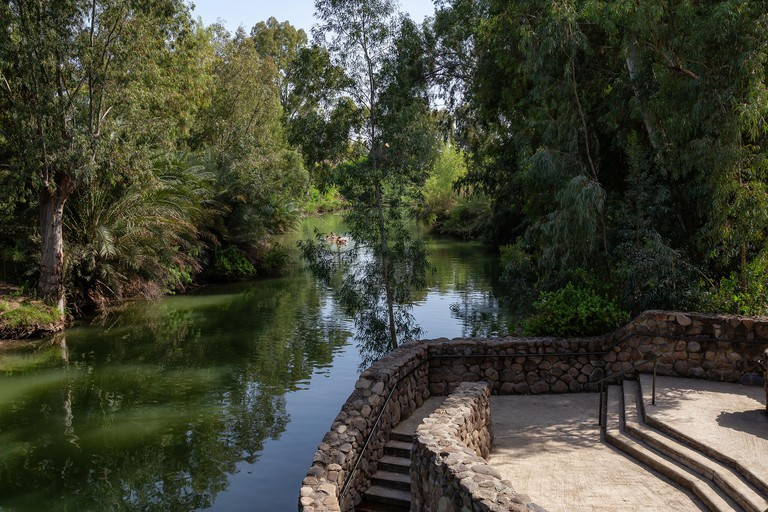 Beautiful view of Jordan River where Jesus of Nazareth was Baptised.