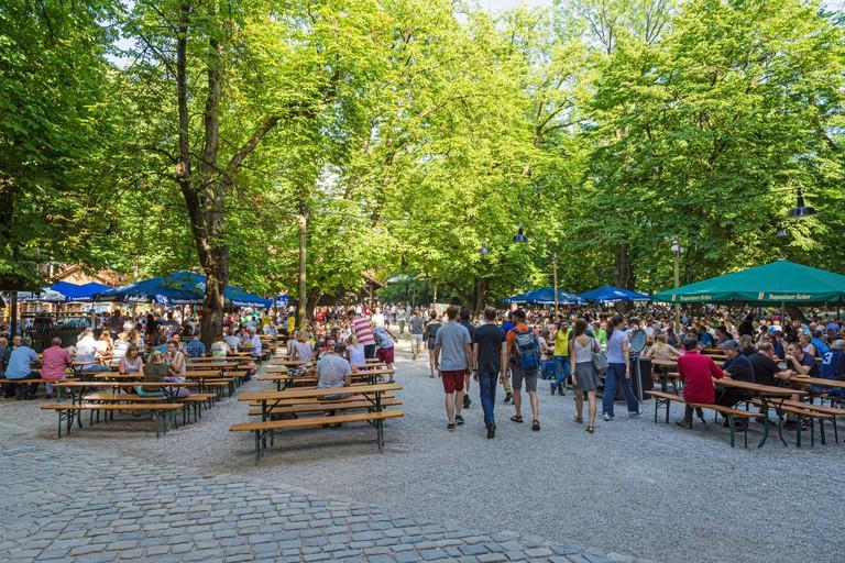 Augustiner-Keller beer garden, Munich, Bavaria, Germany