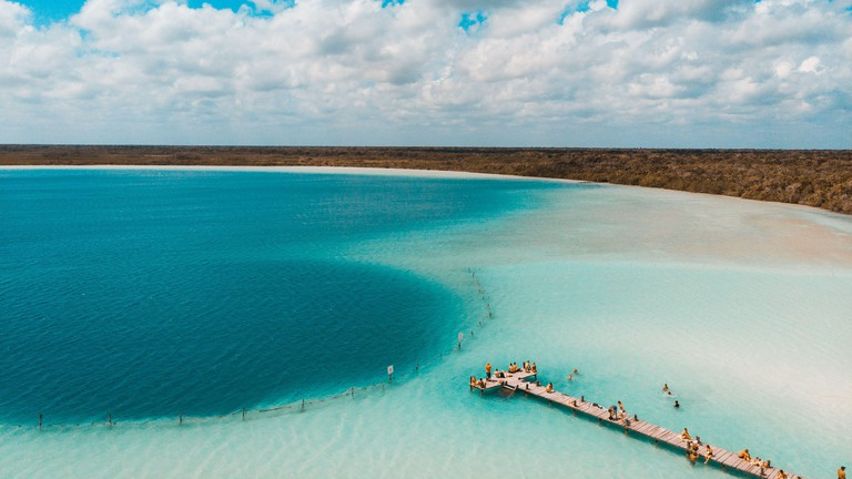 The Kaan Luum lagoon is located in Tulum, Quintana Roo in Mexico.