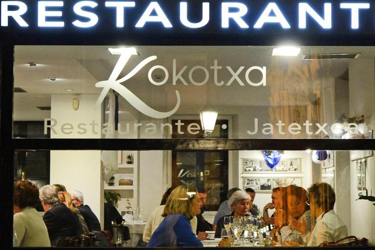 Kokotxa restaurant in San Sebastian, Spain.