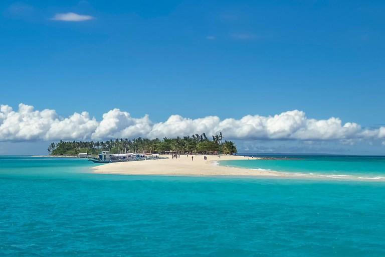 The idyllic Kalanggaman Island near Leyte in the Philippines