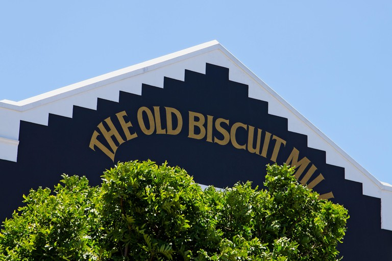 CAPE TOWN, SOUTH AFRICA - Dec 23, 2019: The Saturday market at The Old Biscuit Mill. This is a popular tourist attraction in the city.