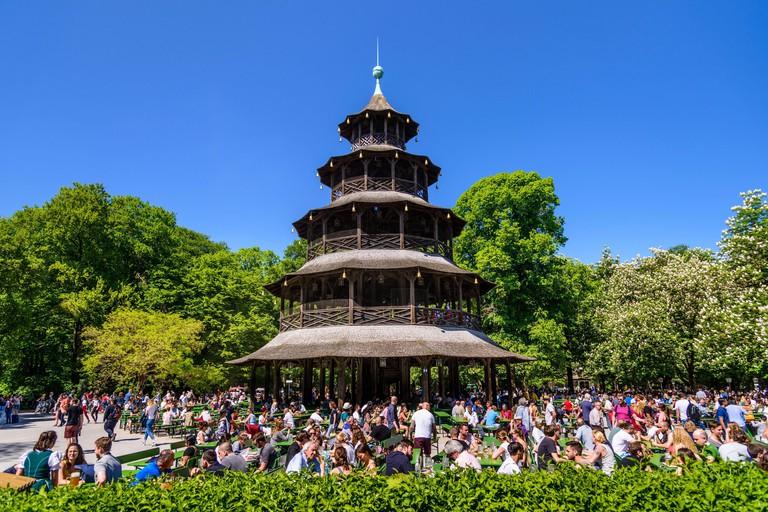 Deutschland, Bayern, Oberbayern, Munchen, Englischer Garten, Chinesischer Turm