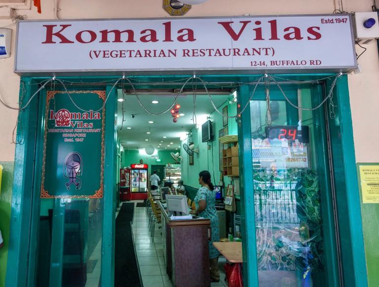 Komala Vilas vegetarian restaurant in Buffalo Rd. Little India is a district in Singapore