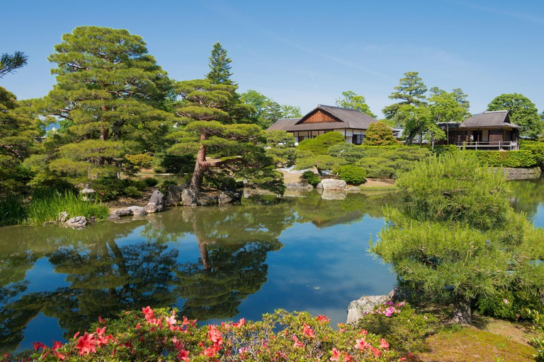 Katsura Imperial Villa (Katsura Rikyu) in Kyoto, Japan. It is one of the finest examples of Japanese architecture and garden design and founded in1645