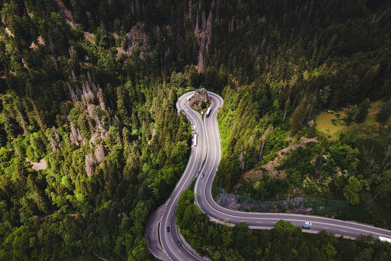 Black Forest, Hollental, Kreuzfelsenkurve, Ravennaschlucht, Baden-Wurttemberg, Germany, Europe